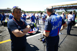 Masashi Yamamoto, General Manager, Honda Motorsport, on the grid