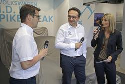 Francois-Xavier Demaison, Sven Smeets, Director de Volkswagen Motorsport, Maren Braun