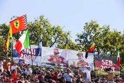 Ferrari fans show their support