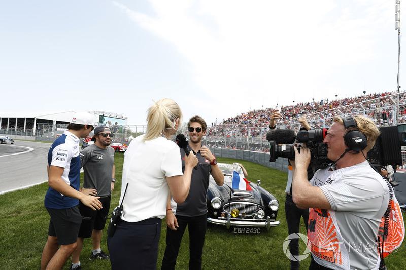Romain Grosjean, Haas F1 Team, Lance Stroll, Williams, Fernando Alonso, McLaren