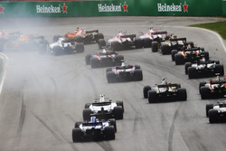 A rear view of the start of the race