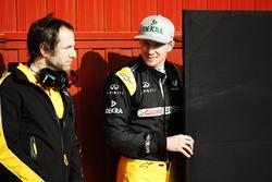 Nico Hülkenberg, Renault Sport F1 Team, mit Renningenier Ciaron Pilbeam