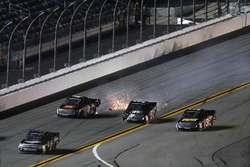 Korbin Forrister, Toyota, Christopher Bell, Kyle Busch Motorsports Toyota, crash