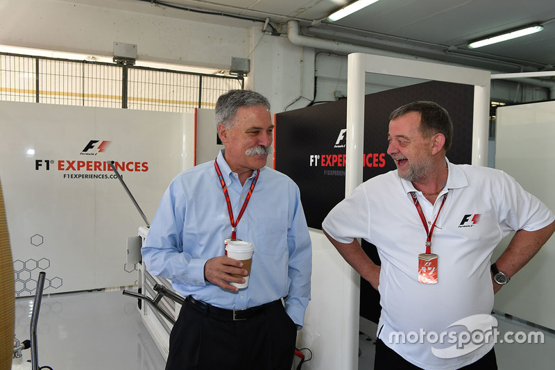 Chase Carey, Chief Executive Officer and Executive Chairman of the Formula One Group and Paul Stoddart