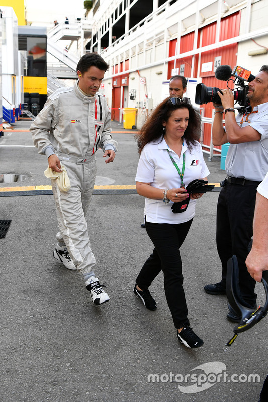 F1 Experiences 2-Seater passenger Thomas Senecal, Journalist and Presenter for Canal +