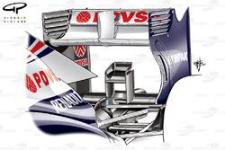 """Заднє антикрило і """"сідало мавпи"""" Williams FW35"""