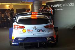Hayden Paddon, Daniel Sordo, Thierry Neuville, Hyundai Motorsport unveil the 2017 Hyundai i20 Coupe WRC