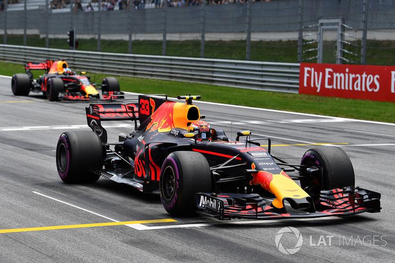 Макс Ферстаппен, Red Bull Racing RB13, практикує старт