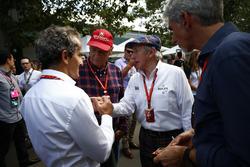 Alain Prost; Niki Lauda; Sir Jackie Stewart; und Damon Hill