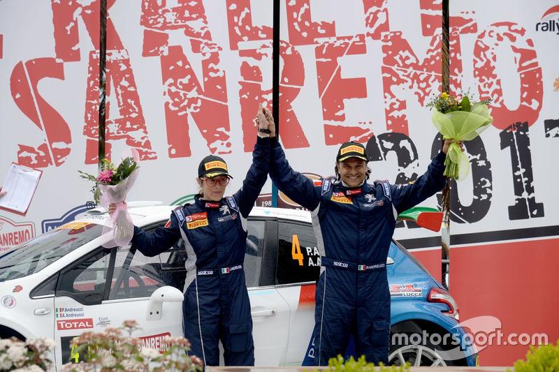 Cerimonia di Premiazione: Paolo Andreucci, Anna Andreussi, Peugeot 208 T16, Peugeot Sport Italia