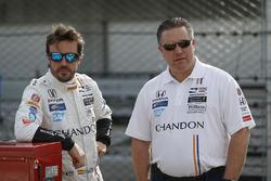 Zak Brown, McLaren CEO, Fernando Alonso, Andretti Autosport Honda