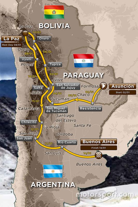 Le parcours du Dakar 2017