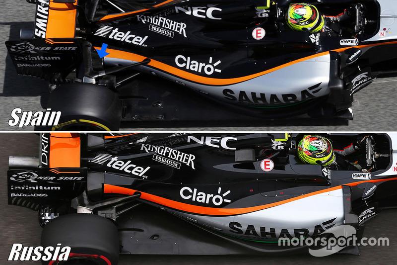 Force India F1 VJM09: Hinterradaufhängung, Vergleich
