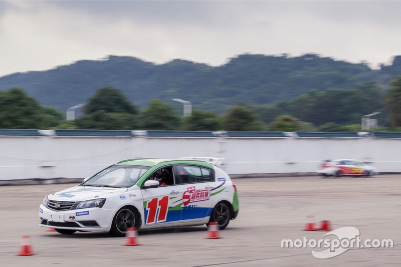 Super Geely driver training action