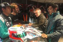 Nelson Piquet Jr., NEXTEV TCR Formula E Team; Ho-Pin Tung, Jaguar Racing; Jean-Eric Vergne, Techeetah