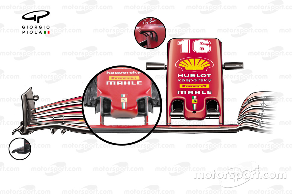 Ferrari SF21 front wing detail