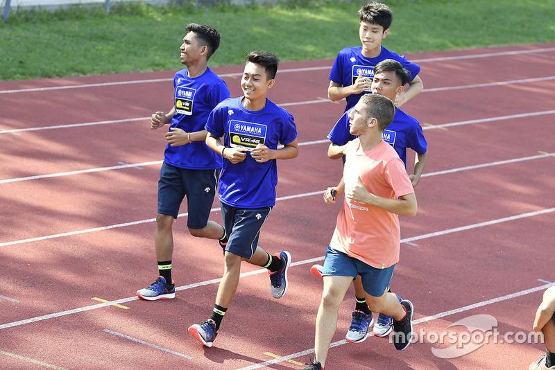 Faeroz berlatih lari bersama Andrea Migno