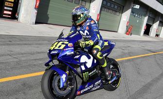 Valentino Rossi, Yamaha, test de Brno agosto