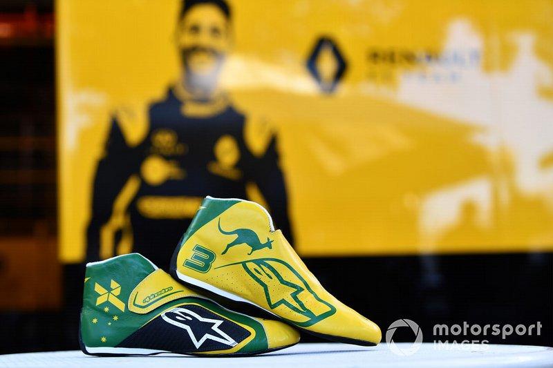 Les chaussures de Daniel Ricciardo (Renault F1 Team)