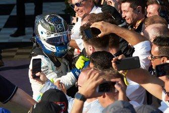 Valtteri Bottas, Mercedes AMG F1, 1st position, celebrates with his team in Parc Ferme