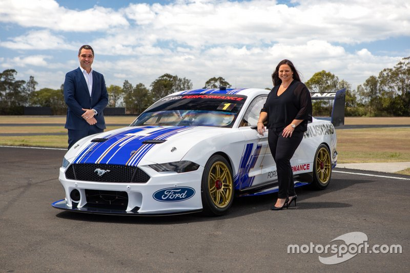 Supercars CEO Sean Seamer and Ford Australia and New Zealand President and CEO Kay Hart