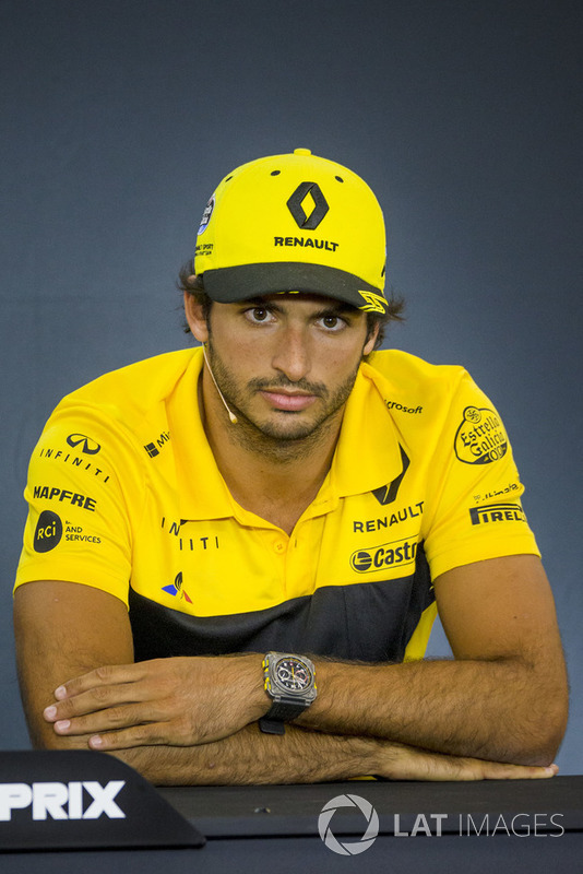 Carlos Sainz Jr., Renault Sport F1 Team in the Press Conference