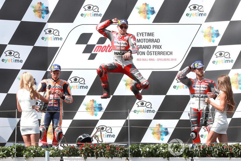 Podium: 1. Jorge Lorenzo, Ducati Team,2. Marc Marquez, Repsol Honda Team,3. Andrea Dovizioso, Ducati Team
