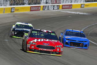 Kurt Busch, Stewart-Haas Racing, Ford Fusion Haas Automation, Ross Chastain, Premium Motorsports, Chevrolet Camaro Xchange of America and Kyle Larson, Chip Ganassi Racing, Chevrolet Camaro DC Solar Vegas Strong