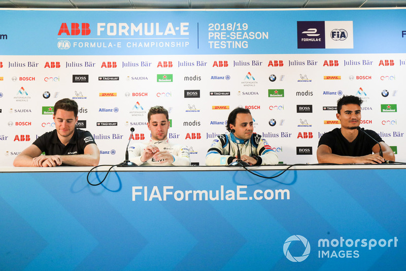 Stoffel Vandoorne, HWA Racelab,Robin Frijns, Envision Virgin Racing, Felipe Massa, Venturi Formula E, in the press conference