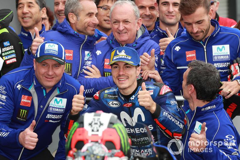 Second place Maverick Viñales, Yamaha Factory Racing