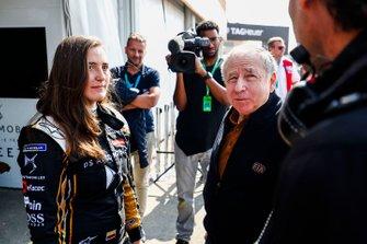 Jean Todt, FIA President talks to Tatiana Calderon, DS TECHEETAH