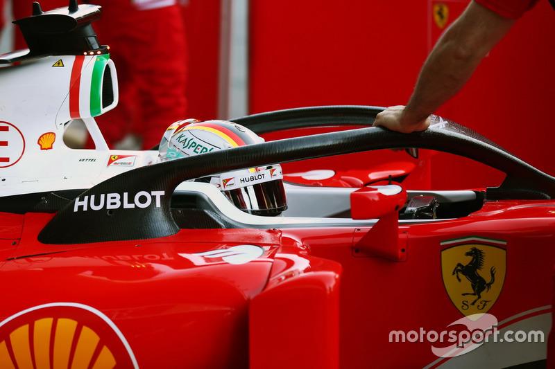 Sebastian Vettel, Ferrari SF16-H Halo kokpit