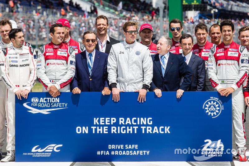 Foto oficial de Acción de FIA para la seguridad vial: Presidente de la FIA Jean Todt, Presidente de