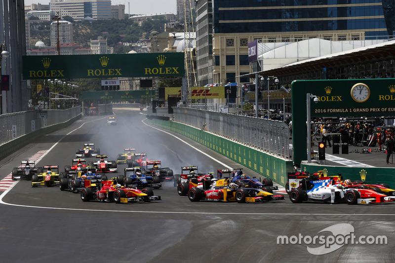 Oliver Rowland, MP Motorsport, Jordan King, Racing Engineering, Antonio Giovinazzi, PREMA Racing, Sergio Canamasas, Carlin & Jordan King, Racing Engineering