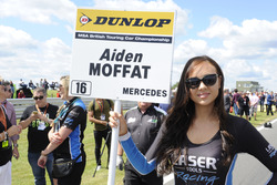 Grid girl of Aiden Moffat, Laser Tools Racing