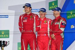 Podium GTE AM: third place #83 AF Corse Ferrari 458 Italia: Francois Perrodo, Emmanuel Collard, Rui Aguas