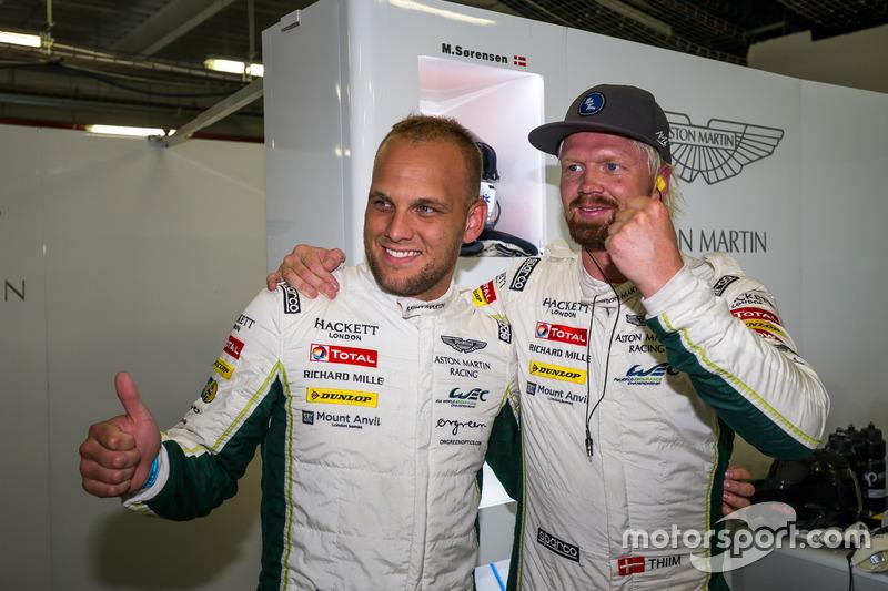 GTE pole for the #95 Aston Martin Racing Aston Martin Vantage GTE: Marco Sorensen, Nicki Thiim