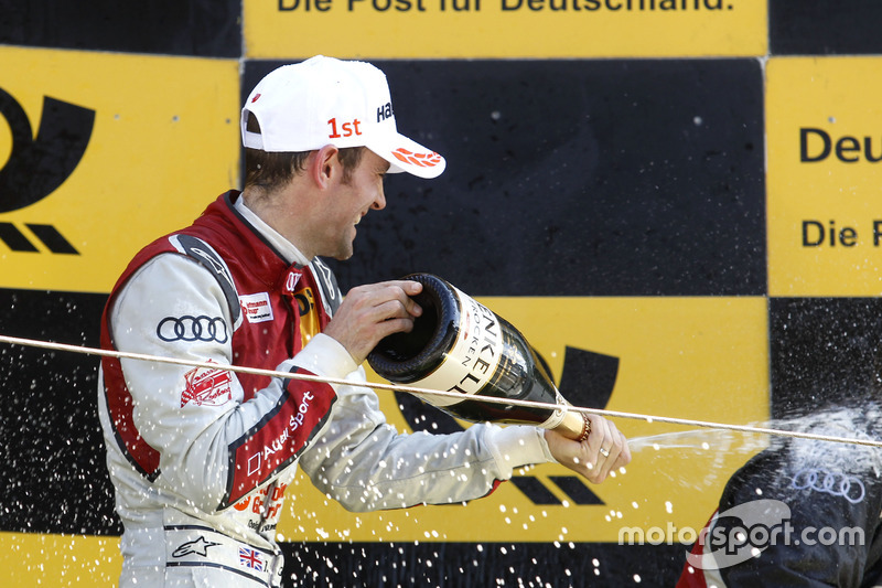 Podium: Jamie Green, Audi Sport Team Rosberg, Audi RS 5 DTM with champagne