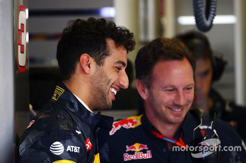 Daniel Ricciardo, Red Bull Racing with Christian Horner, Red Bull Racing Team Principal