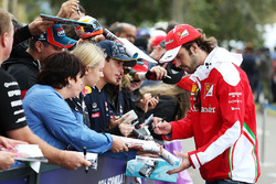 Jean-Eric Vergne, Ferrari Test and Development Driver signs autographs for the fans