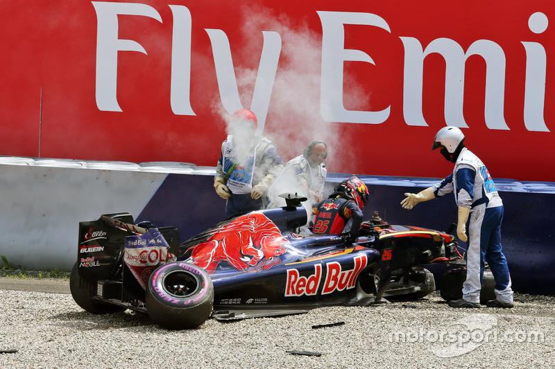 40: Гран прі Австрії, Шпільберг. Аварія Данііла Квята