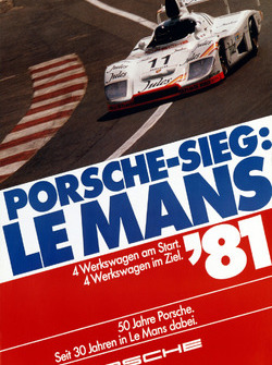 Poster: Porsche-Sieg bei den 24h Le Mans 1981