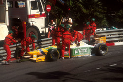 Michael Schumacher, Benetton B193B Ford, off of the track
