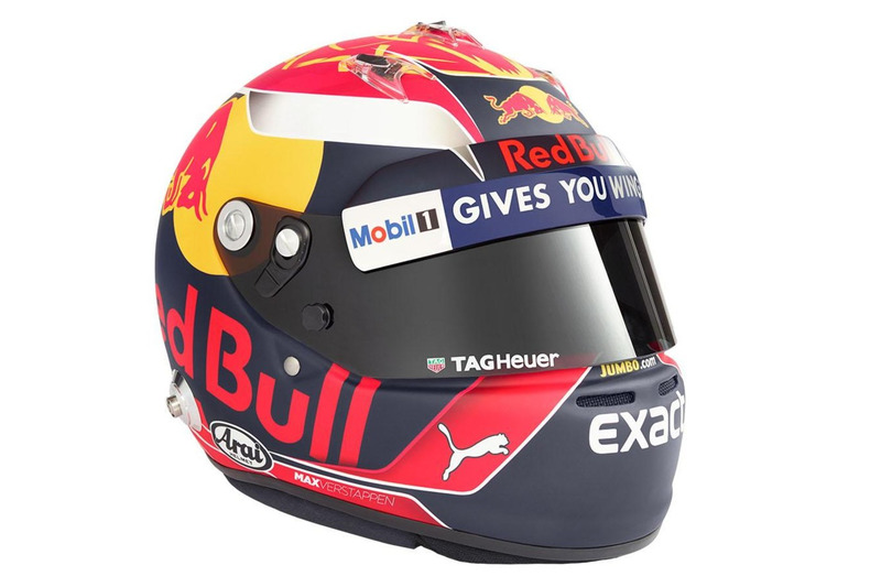 Le casque de Max Verstappen, Red Bull Racing