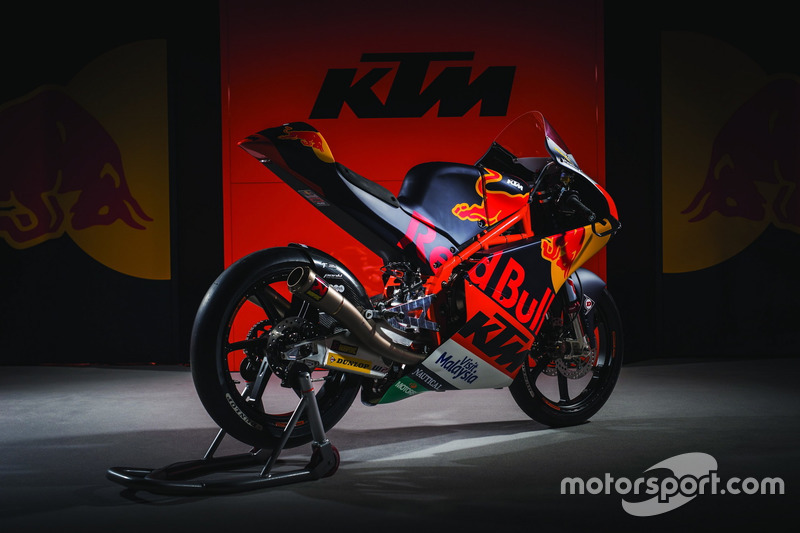De KTM RC 250 van Red Bull KTM Ajo Team