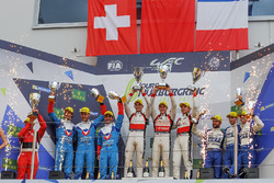 LMP2-Podium: 1. Ho-Pin Tung, Oliver Jarvis, Thomas Laurent, DC Racing; 2. Julien Canal, Bruno Senna,