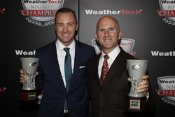 Tequila Patron North American Endurance Cup winner Ben Keating with AMG Mercedes representative Rob Moran