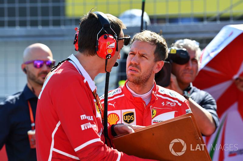 Sebastian Vettel, Ferrari y Riccardo Adami, Ferrari