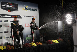 Third place Simon Pagenaud, Helio Castroneves, Team Penske