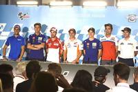 Alex Rins, Team Suzuki MotoGP, Valentino Rossi, Yamaha Factory Racing, Andrea Dovizioso, Ducati Team, Marc Marquez, Repsol Honda Team, Maverick Viñales, Yamaha Factory Racing, Danilo Petrucci, Pramac Racing, Simeon